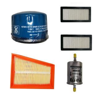 فیلتر روغن خودرو مدل UV1 به همراه فیلتر هوا و فیلتر بنزین  و دو عدد فیلتر کابین مناسب برای خودروی رنو ال 90