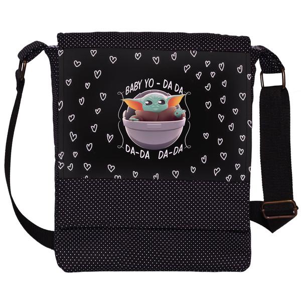 کیف دوشی دخترانه چی چاپ طرح Baby yoda کد 65614