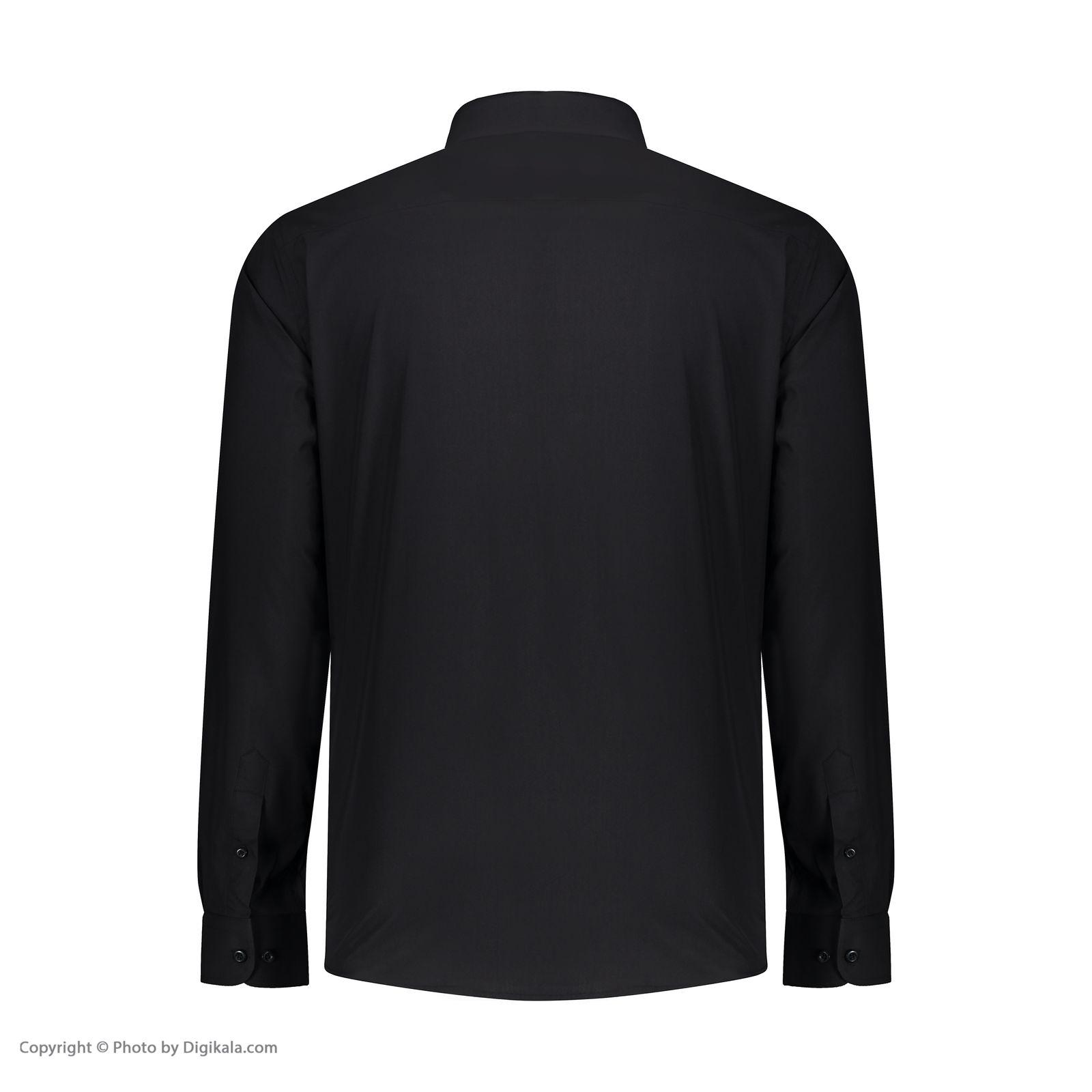 پیراهن مردانه پاتن جامه کد 98MC8528 رنگ مشکی  -  - 3