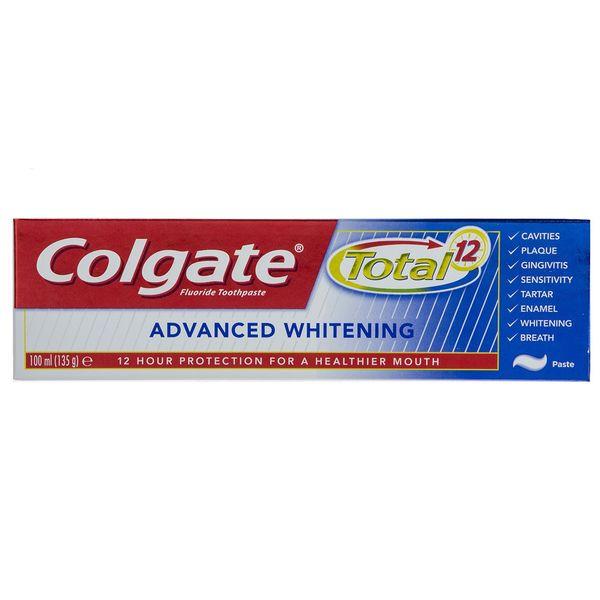 خمیر دندان کلگیت سری Total 12 مدل Advanced Whitening حجم 100 میلی لیتر
