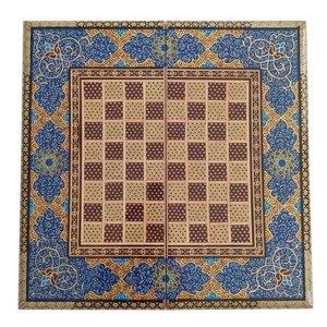 صفحه شطرنج خاتم کاری مدل تذهیب کد GM-5050