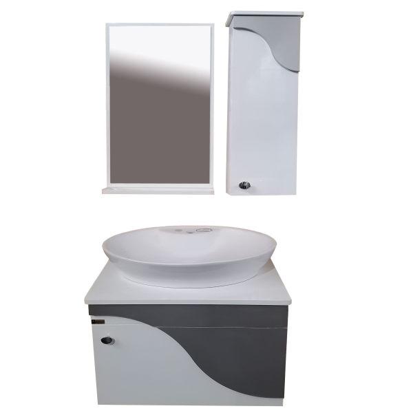 ست کابینت و روشویی مدل lu604069 به همراه آینه و باکس