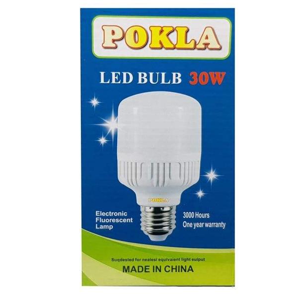 لامپ ال ای دی 30 وات پوکلا کد 4-30 پایه E27 بسته 4 عددی main 1 2