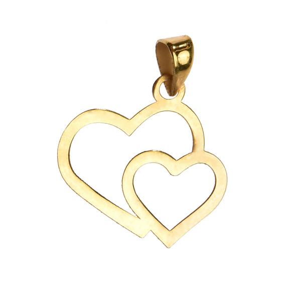 آویز گردنبند طلا 18 عیار زنانه کرابو طرح قلب مدل Kr3031