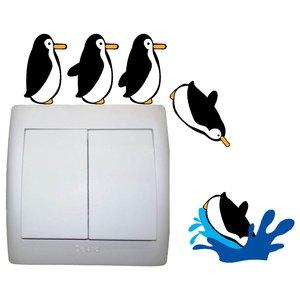 استیکر کلید پریز مستر راد طرح پنگوئن شیرجه زن بسته دو عددی