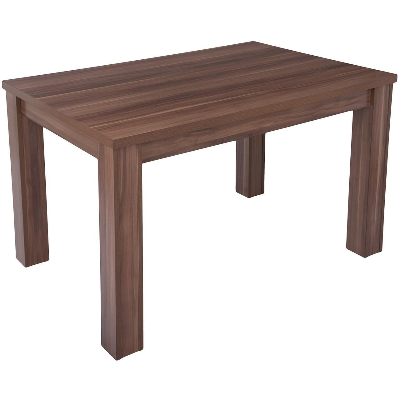 میز ناهار خوری DND مدل میگون- 120x 80 x 74  سانتی متر - قهوه ای روشن