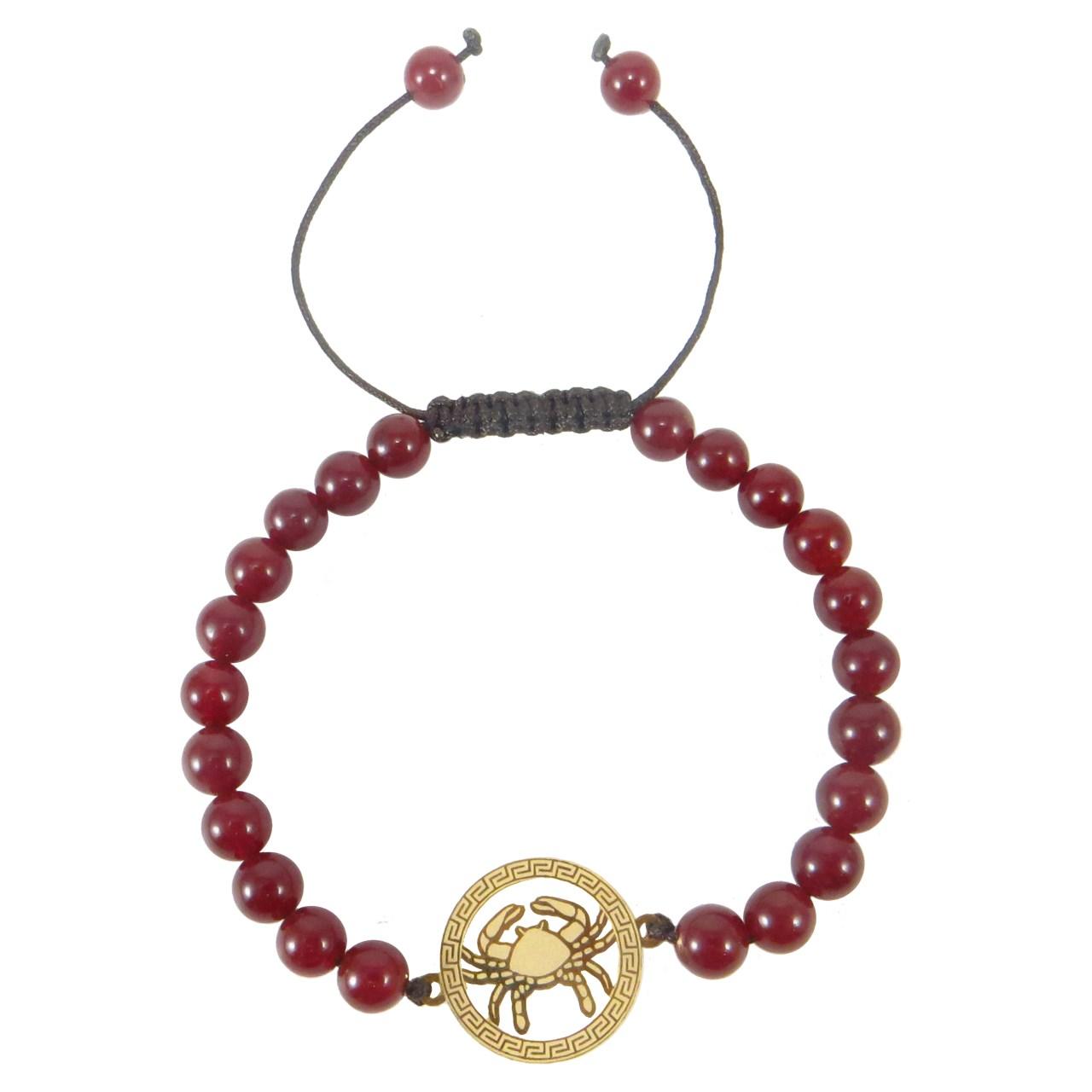 دستبند طلا 18 عیار نوین زر طرح ماه تولد تیر