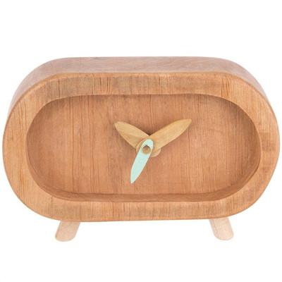 Photo of ساعت چوبی گالری روستا مدل بیضی