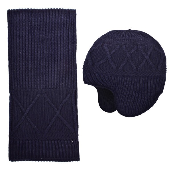 ست کلاه و شال گردن بافتنی کد M0108-1