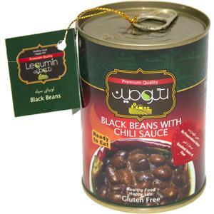 کنسرو لوبیا سیاه در سس چیلی لگومین - 400 گرم