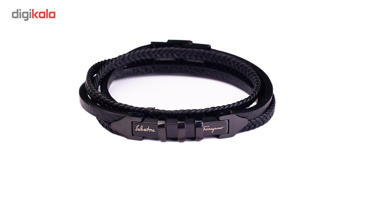 دستبند چرمی شهر شیک مدل D233