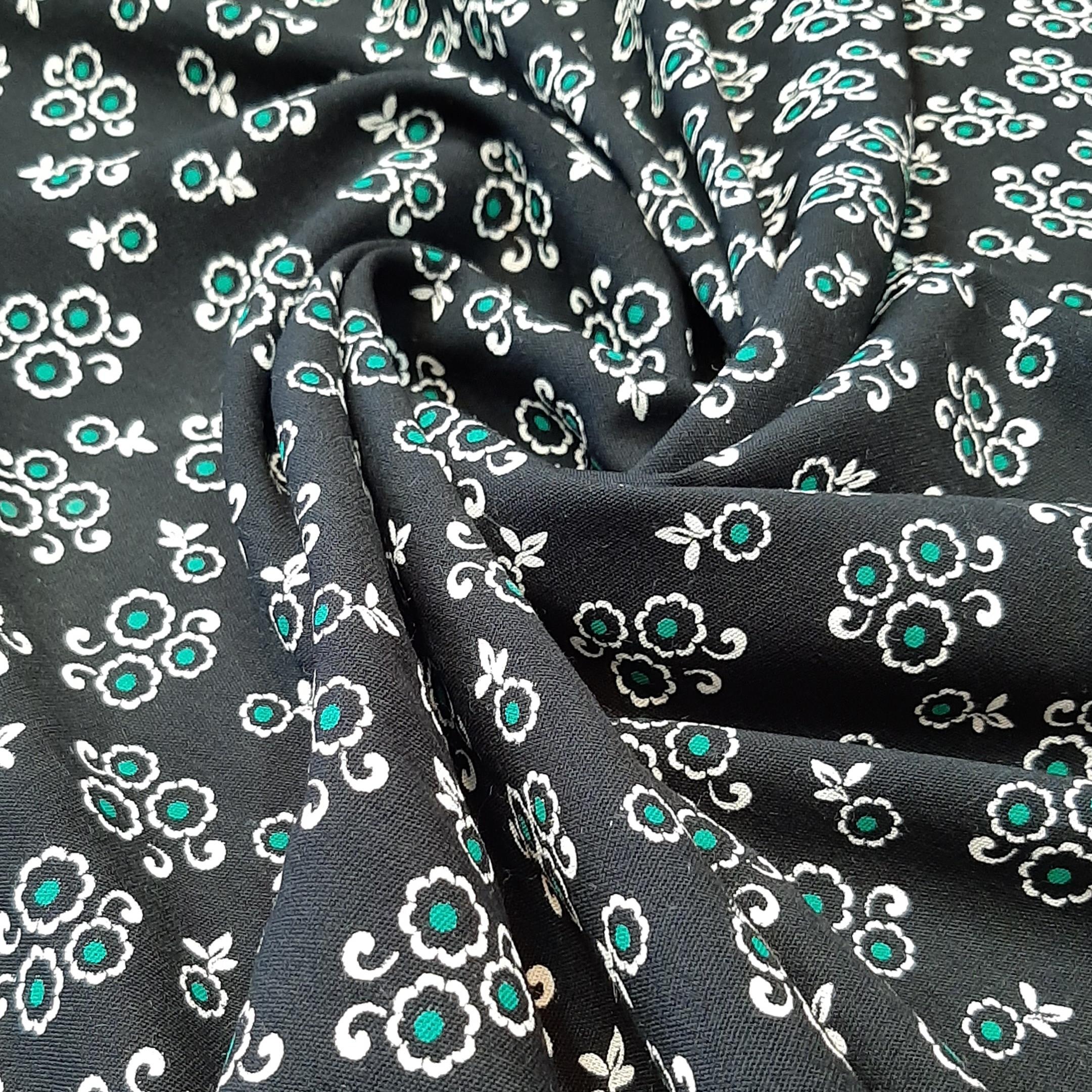 خرید                      پارچه لباس طرح ریز گل مدل p19