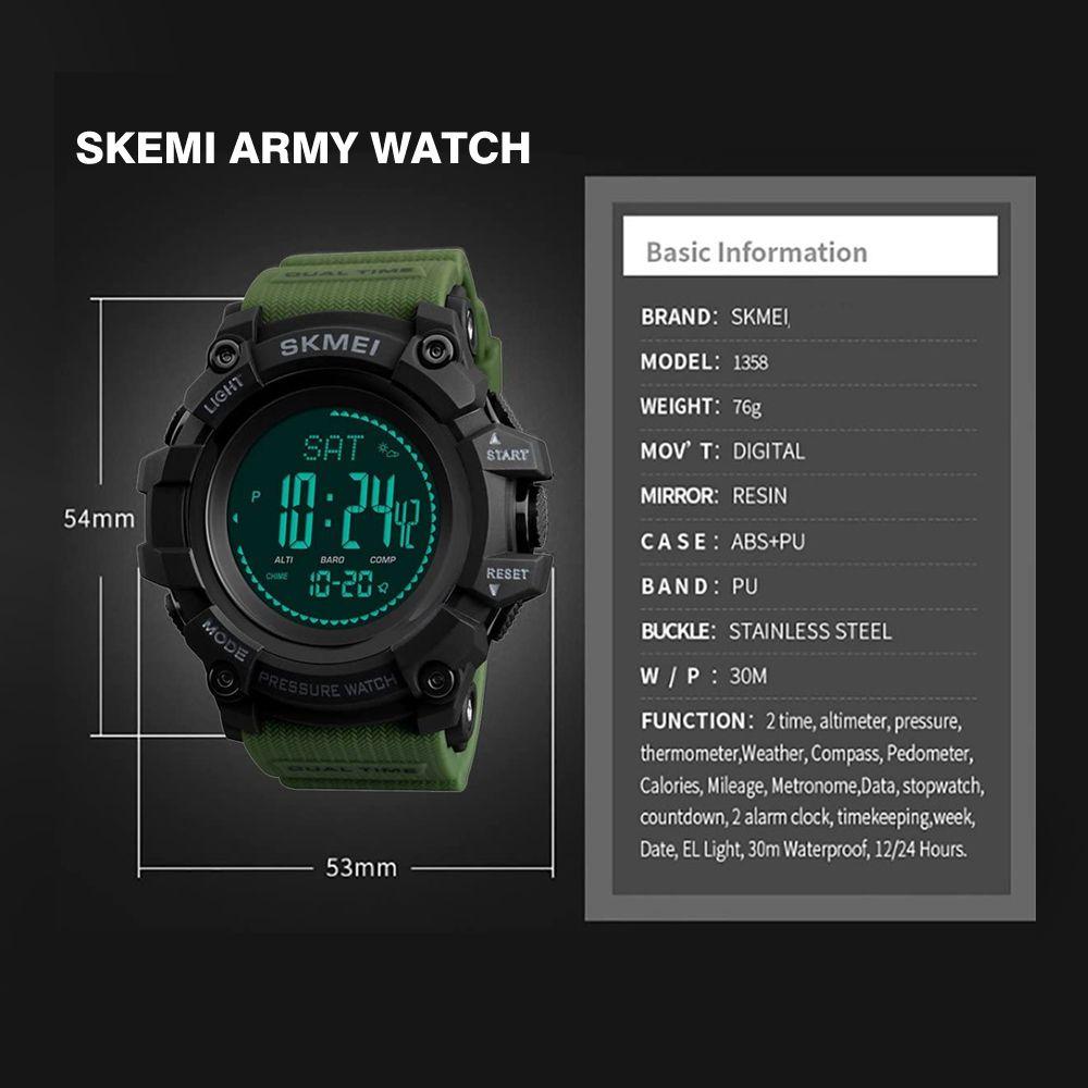 ساعت مچی دیجیتال مردانه اسکمی مدل T1358 -  - 6