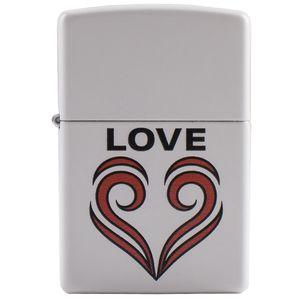 فندک زیپو مدل Love Trame کد 29193