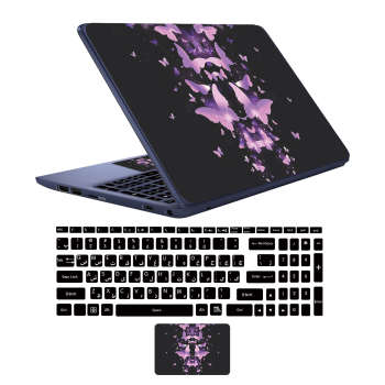 استیکر لپ تاپ کد but02 به همراه برچسب حروف فارسی کیبورد