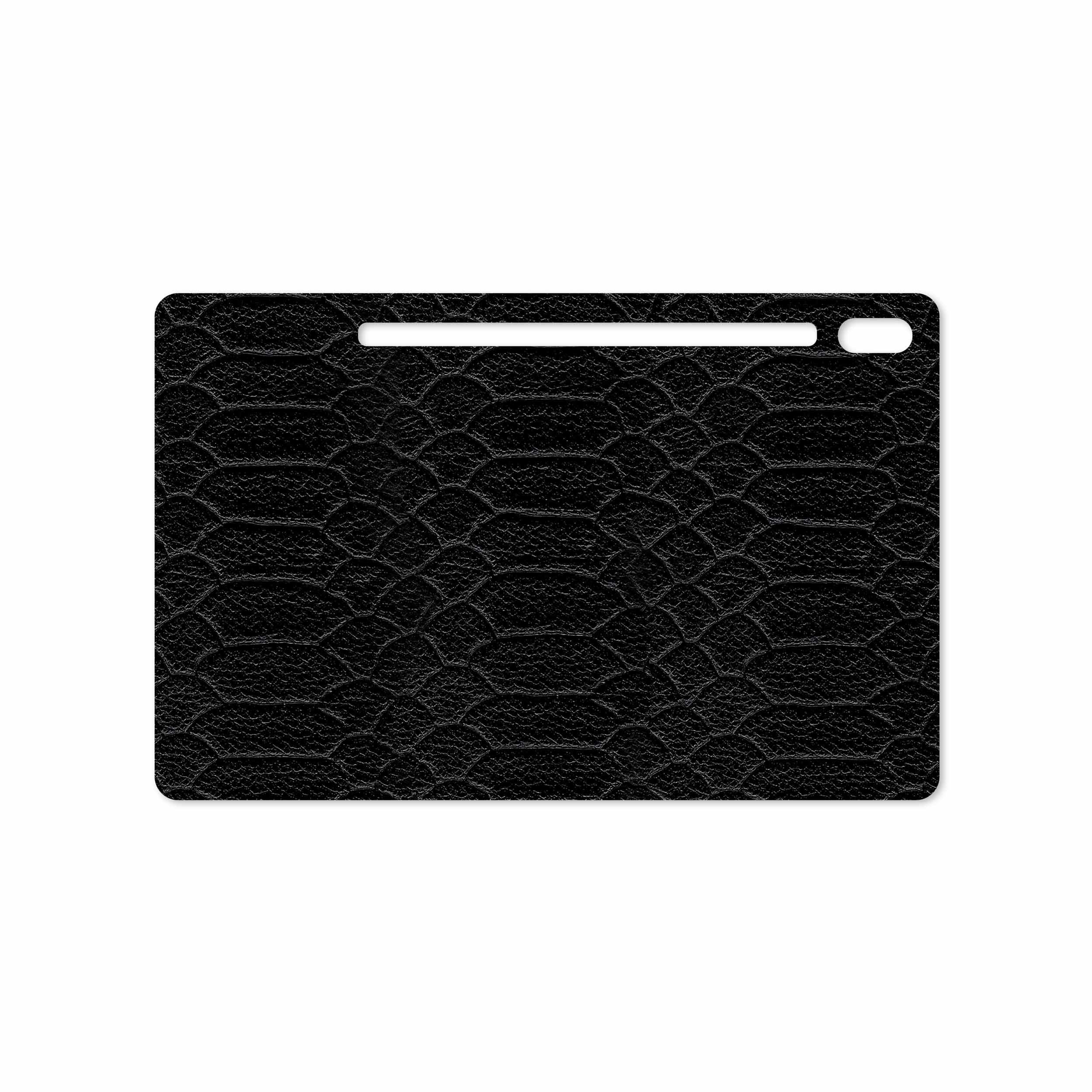 بررسی و خرید [با تخفیف]                                     برچسب پوششی ماهوت مدل Black-Snake-Leather مناسب برای تبلت سامسونگ Galaxy Tab S6 2019 SM-T865                             اورجینال