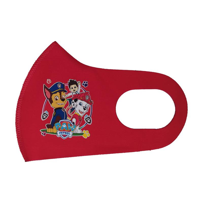 ماسک تزیینی بچگانه طرح سگهای نگهبان کد 30649 رنگ قرمز