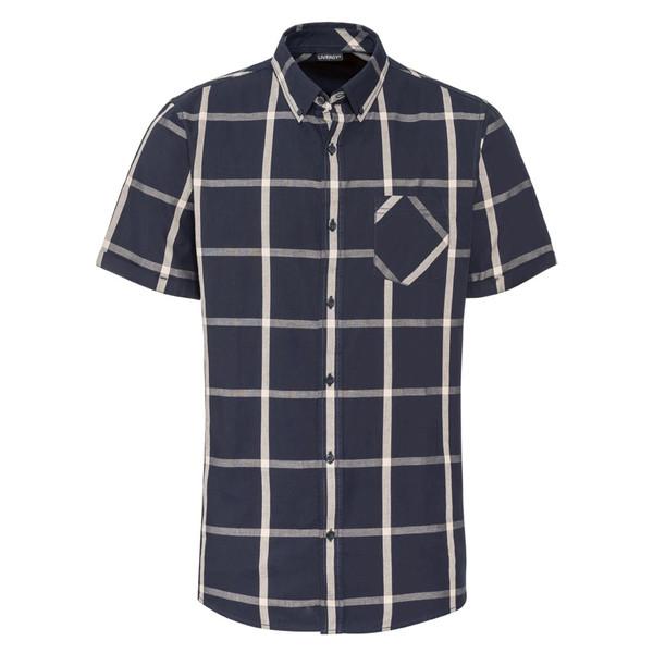 پیراهن آستین کوتاه مردانه لیورجی مدل p339469 رنگ سورمه ای