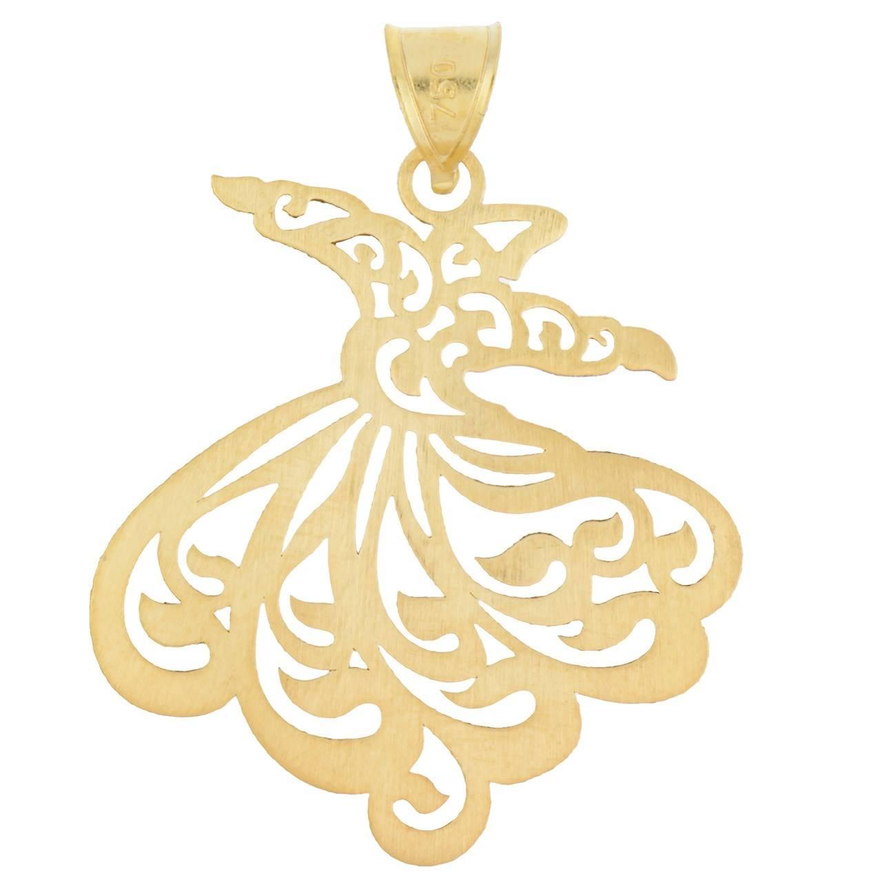 آویز طلا 18 عیار زنانه گالری مرجان مدل 0949