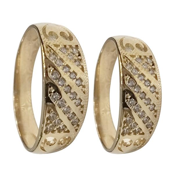 ست انگشتر زنانه و مردانه سلین کالا مدل طلا کد ce-As26
