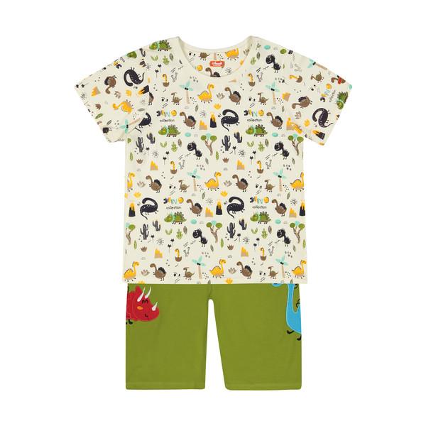 ست تی شرت و شلوارک راحتی پسرانه مادر مدل 2041110-42