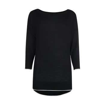 تصویر پلیور زنانه او وی اس مدل 000193621-BLACKWHITE OVS 000193621-BLACKWHITE Sweater For Women