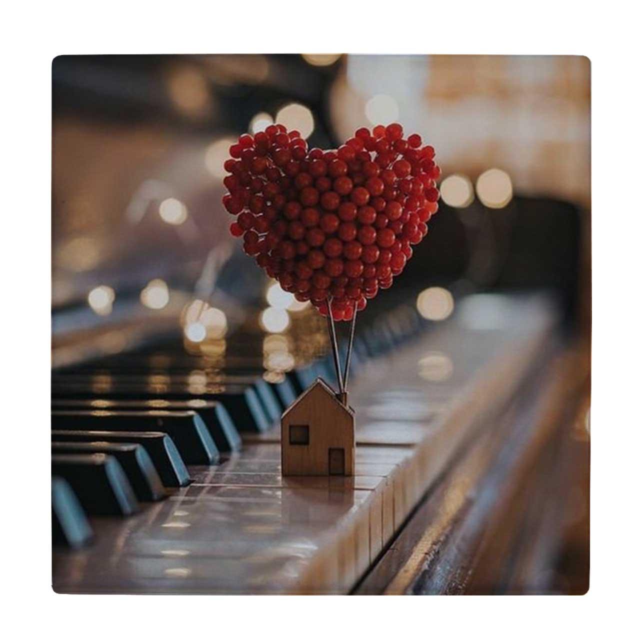 خرید                                         کاشی طرح پیانو و ماکت کلبه کد wk3386