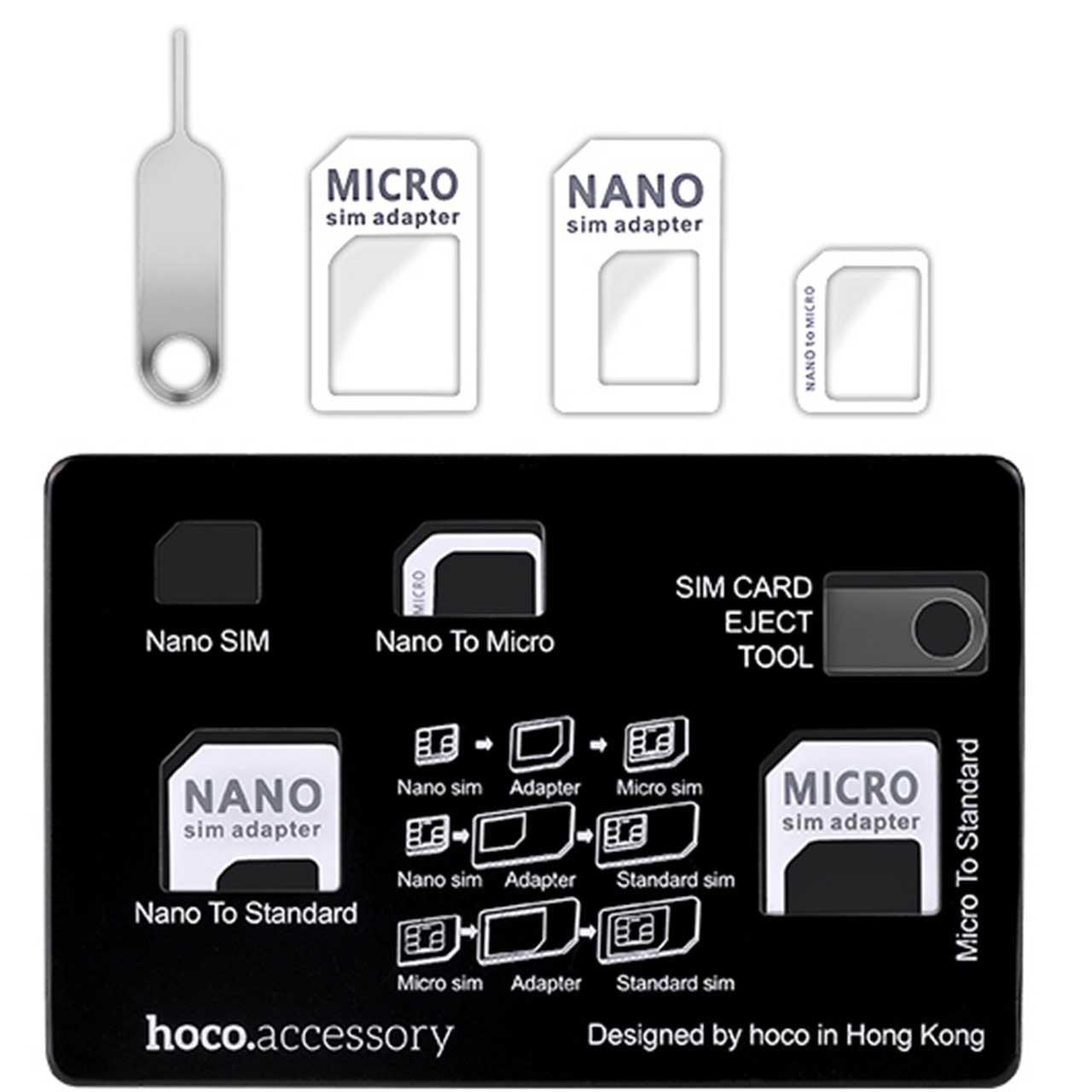 تبدیل سیم کارتهای میکرو و نانو به استاندارد هوکو مدل Card Set