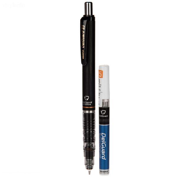 مداد نوکی 0.5 میلی متری زبرا مدل Delguard به همراه نوک 0.5 میلی متری