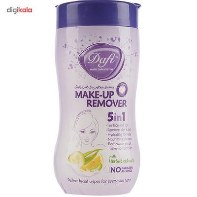 دستمال مرطوب پاک کننده آرایش دافی مدل 5IN1 بسته 70 عددی
