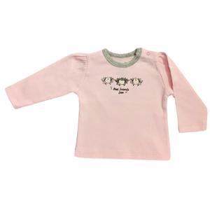 تی شرت آستین بلند نوزادی پولونیکس طرح پرنده کد 06