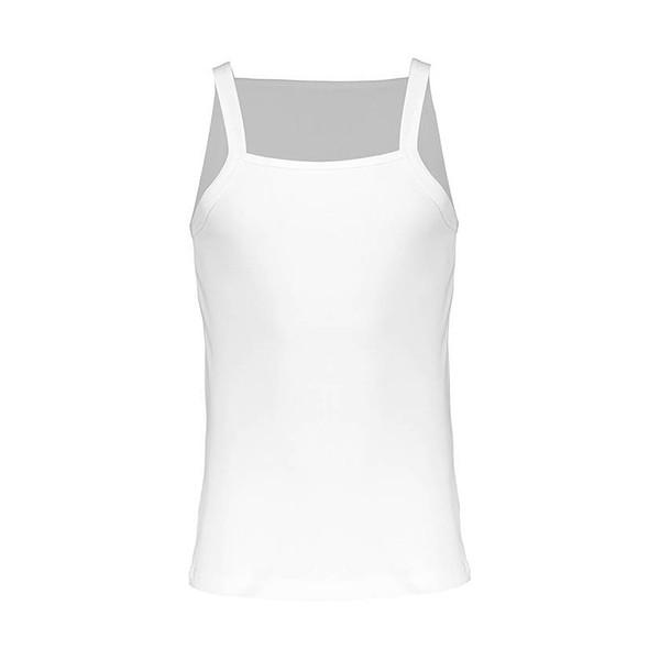 زیرپوش رکابی یقه خشتی نخی مردانه رویین تن پوش مدل  31316