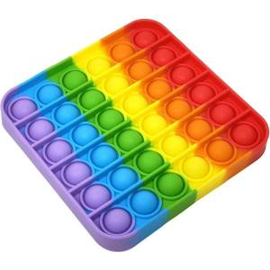 فیجت پاپ ایت طرح رنگین کمان مدل مربع