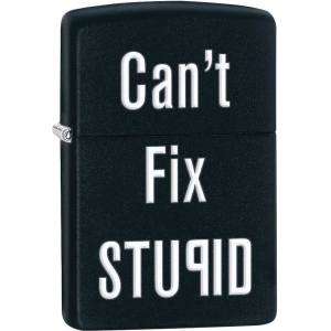 فندک زیپو مدل Cant Fix Stupid کد 28664