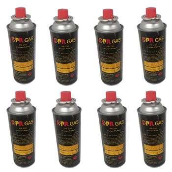 کپسول گاز سفری 210 گرمی پی آر مدل 201165020 بسته 8 عددی