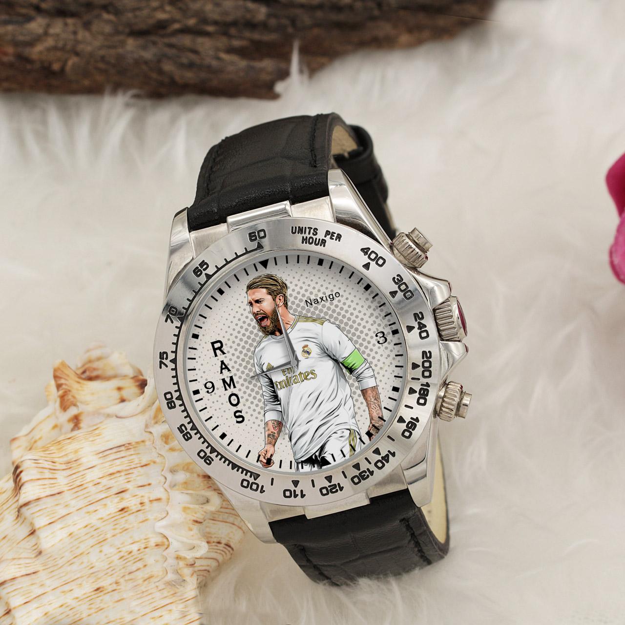 ساعت مچی  مردانه ناکسیگو طرح سرخیو راموس کد LS3556