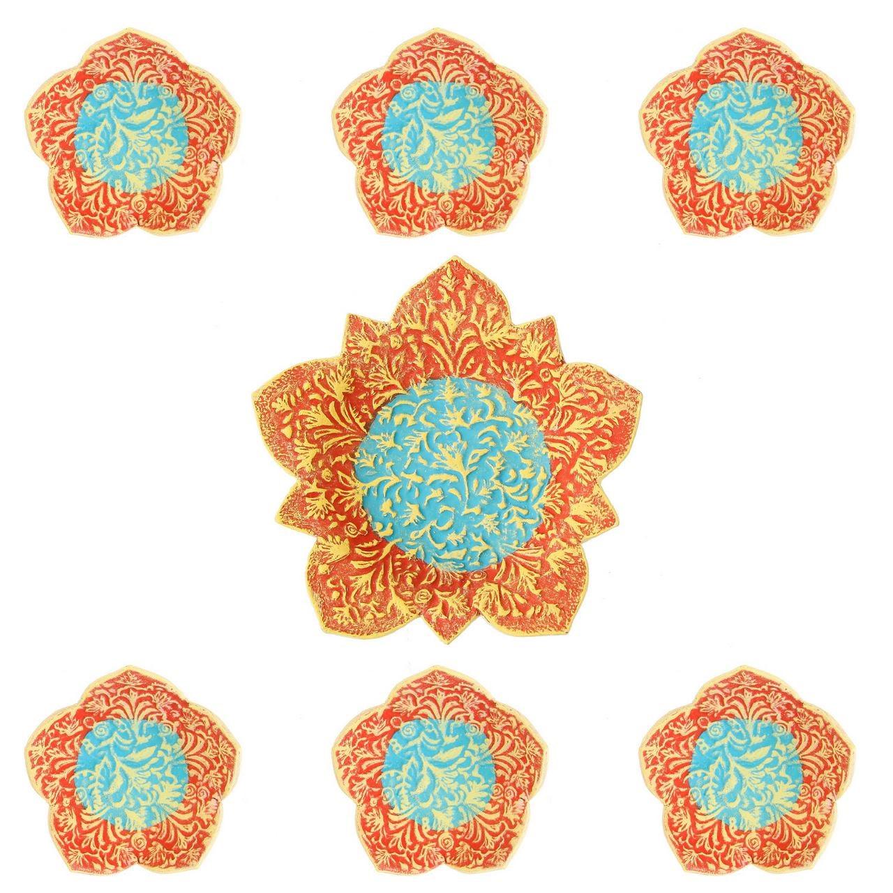 عکس مجموعه ظروف هفت سین سفالی گالری آسوریک کد 86075