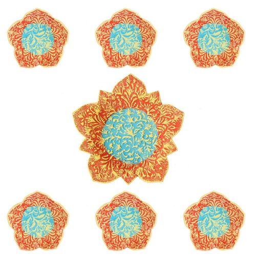مجموعه ظروف هفت سین سفالی گالری آسوریک کد 86075