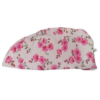 کلاه حمام مدل پیچی طرح شکوفه