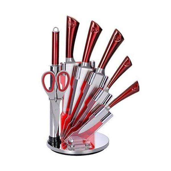 ست چاقو آشپزخانه 8 پارچه رویالتی لاین مدل KSS804 R