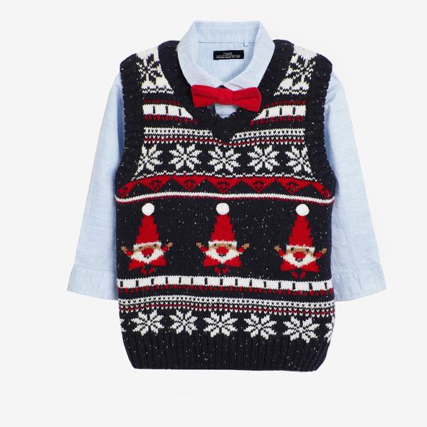 ست 3 تکه لباس پسرانه نکست مدل Christmas