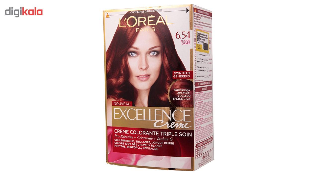 كيت رنگ موي لورآل سري Excellence شماره 6.54