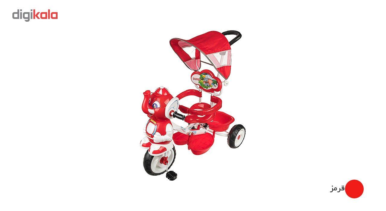 سه چرخه بیبی لند مدل Elephent  Baby Land Elephent Tricycle