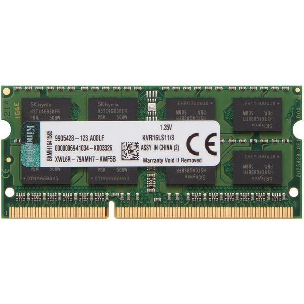 رم لپ تاپ DDR3L تک کاناله 1600 مگاهرتز CL11 کینگستون مدل ValueRAM ظرفیت 8 گیگابایت | Kingston ValueRAM DDR3L 1600MHz CL11 Single Channel Laptop RAM - 8GB