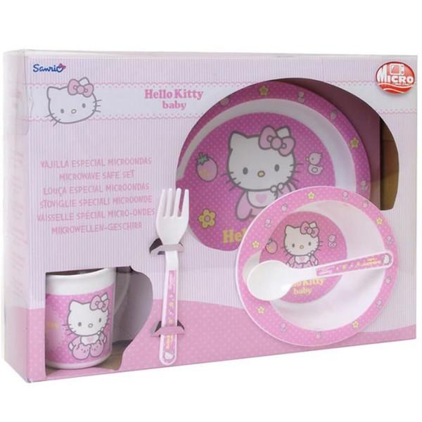 ست 5 تکه غذاخوری سانریو مدل Hello Kitty Baby