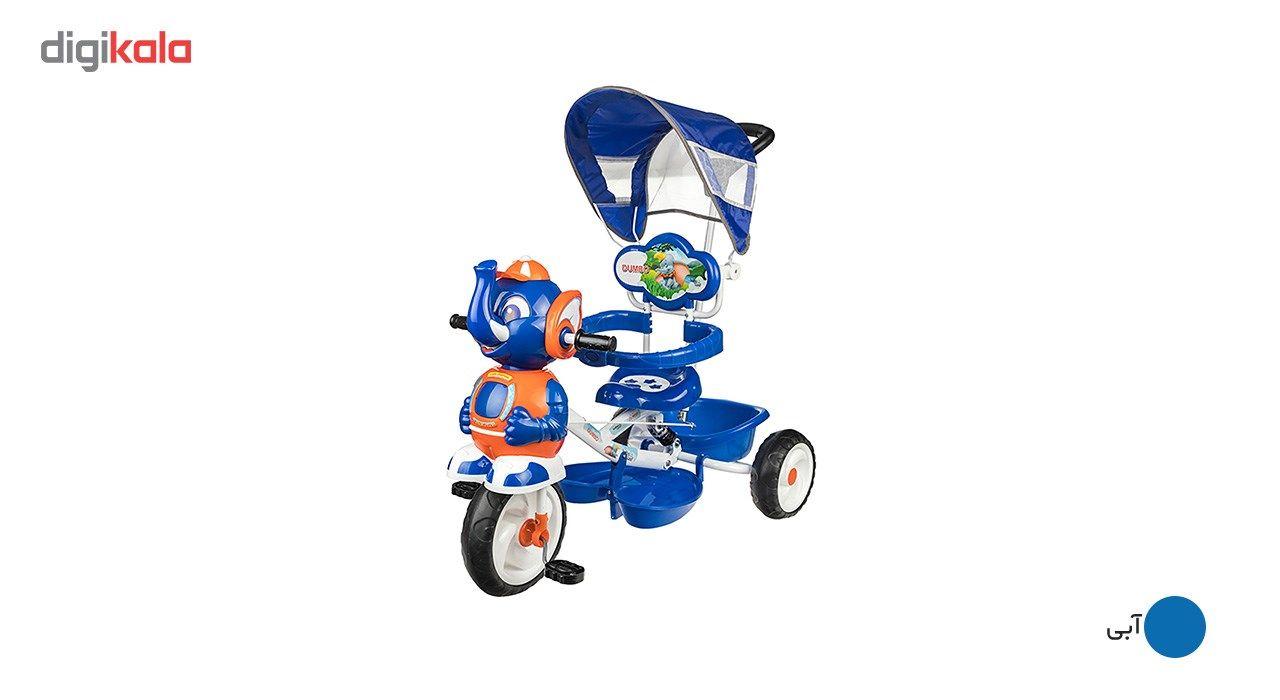 سه چرخه بیبی لند مدل Elephent main 1 4