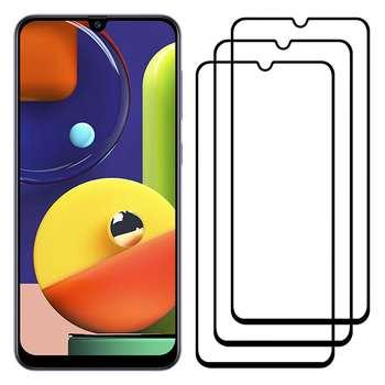محافظ صفحه نمایش مدل FCG مناسب برای گوشی موبایل سامسونگ Galaxy A50s بسته سه عددی