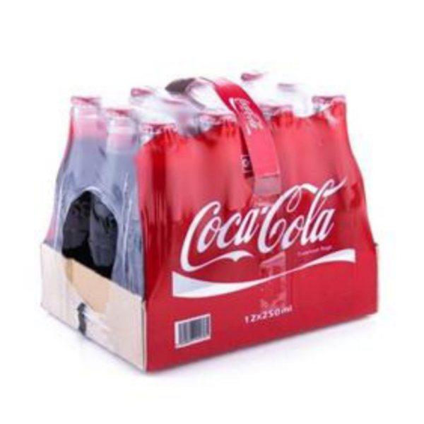 نوشابه کولا کوکاکولا - 250 میلی لیتر بسته 12 عددی
