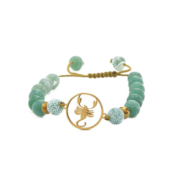 دستبند نوژین مدل آبان سبز