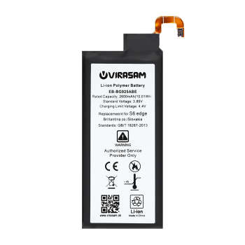 باتری موبایل ویراسام مدل S6 edge با ظرفیت ۲۶۰۰ میلی آمپر ساعت مناسب برای گوشی موبایل سامسونگ مدل Galaxy S6 ege